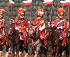 15mm, Napoleonic Dutch Lancers of the Guard AB 12 fig